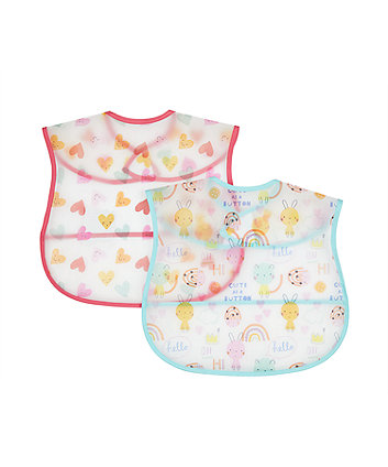 mothercare oh so happy crumb catcher bibs - 2 pack