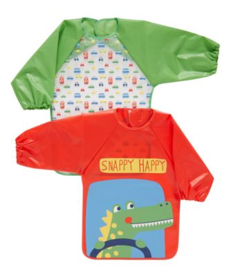 on the road crocodile coverall bibs - 2 pack
