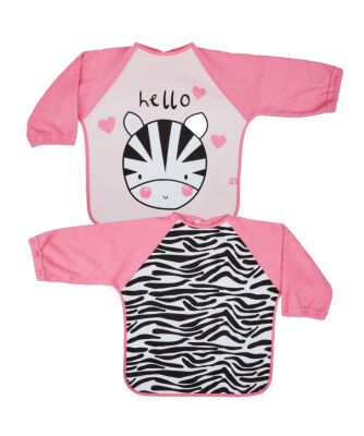 mothercare zebra towelling coverall bibs - 2 pack