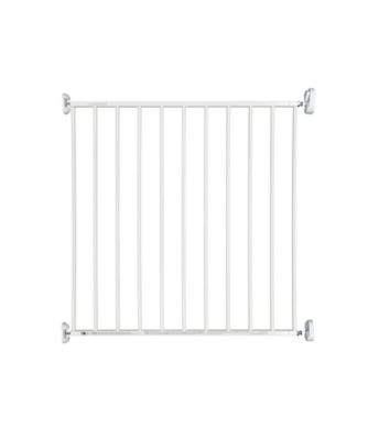 white metal wall fix gate