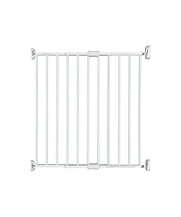 extending white metal wall fix gate