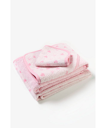 mothercare pink towel bale - 3 pack