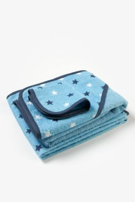 mothercare blue towel bale - 3 pack