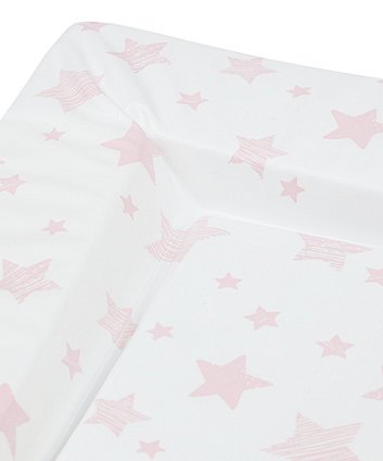 mothercare pink star changing mat