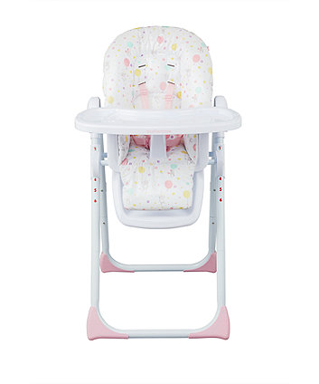 mothercare highchair - confetti party