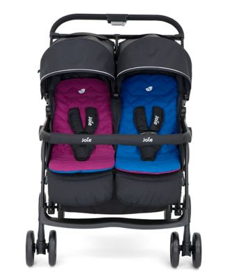 Joie aire twin stroller - rosy/sea