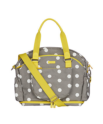 mothercare bluebell bowler changing bag – grey spot