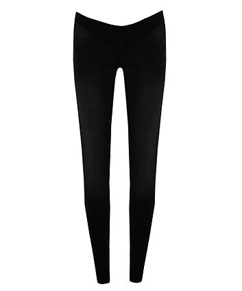 black, under-the-bump maternity jeans
