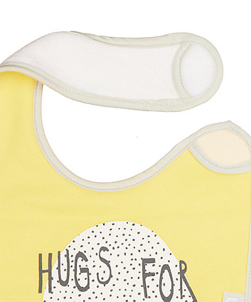 mothercare mummy and daddy newborn bibs - 3 pack