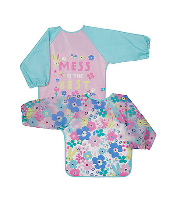 mothercare mess is best coverall bibs - 2 pack