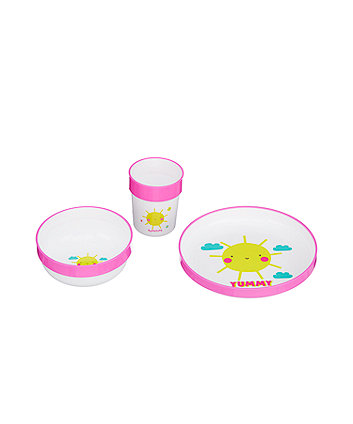 mothercare three-piece feeding set - sunshine