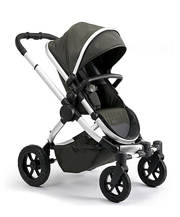 iCandy peach all-terrain pushchair and carrycot combo - forest