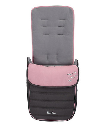 Silver Cross popstar footmuff - pink daisies *exclusive to mothercare*