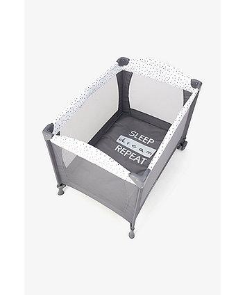 mothercare classic travel cot - sleep dream repeat