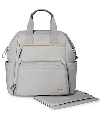 Skip Hop mainframe wide open changing backpack - cement