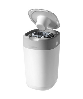 Tommee Tippee twist and click advanced nappy disposal sangenic bin - white