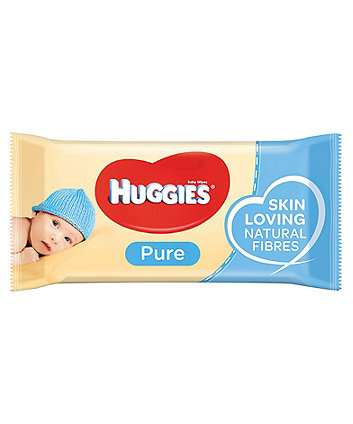 Huggies® pure baby wipes - 18 x single packs of 56 wipes