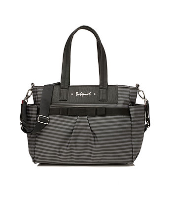Babymel cara changing bag - grey stripe