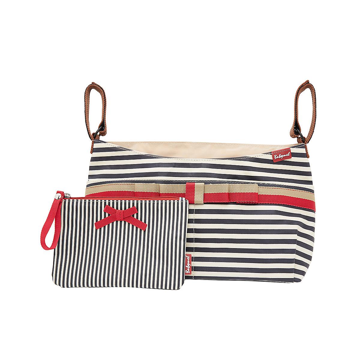 Babymel stroller organiser - navy stripe