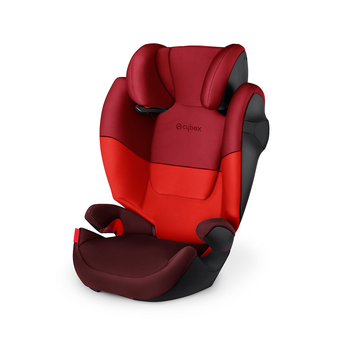 Cybex solution m group 2/3 highback booster car seat- rumba red
