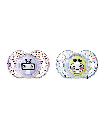 Tommee Tippee fun style soother18-36m - 2 pack