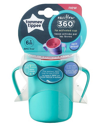Tommee Tippee easi-flow 360 handled cup - 6 months+ green