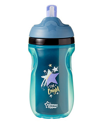 Tommee Tippee insulated straw cup 12m+ blue