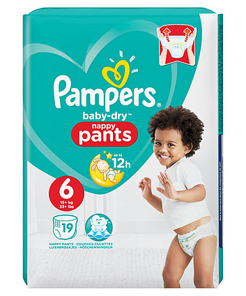 Pampers baby-dry pants size 6 (15+ kg) - 19 carry pack