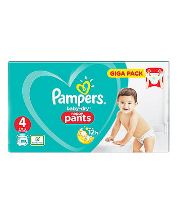 Pampers baby-dry pants size 4 (9-15 kg) - 108 giga pack