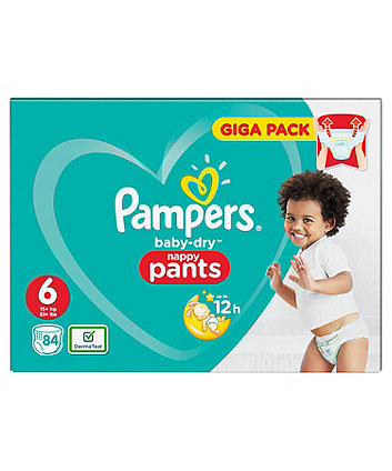 Pampers baby-dry pants size 6 (15+ kg) - 84 giga pack