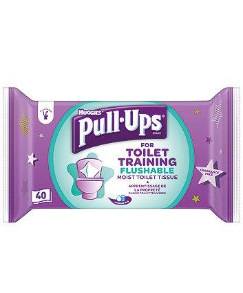 Huggies® pull-ups® flushable moist toilet tissue for toilet training - 40 sheets