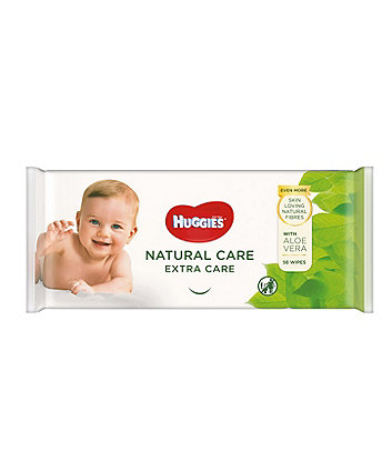 Huggies® natural care 'extra care' baby wipes - single pack (56 wipes)