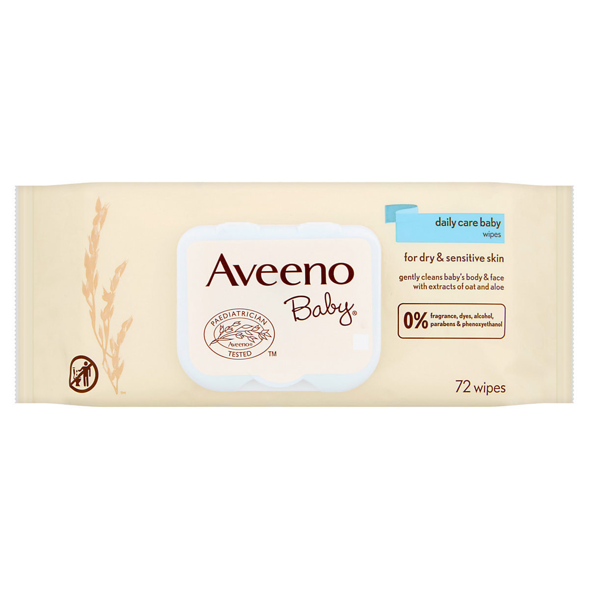 Aveeno daily care wipes - single pack