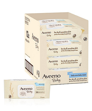 Aveeno daily care wipes - 12 pack