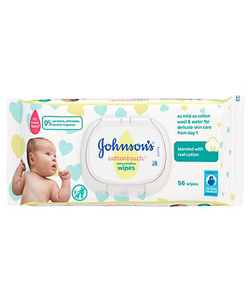 Johnson's cottontouch extra-sensitive wipes - single pack
