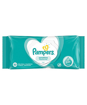 Pampers sensitive baby wipes - 52 pack