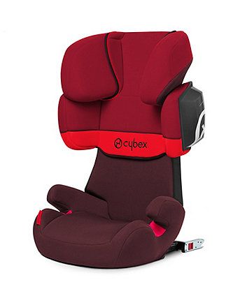 Cybex solution X2-fix highback booster seat - rumba red