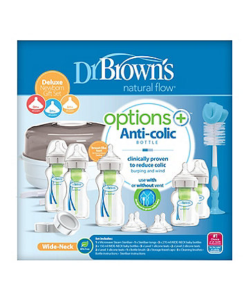 Dr Brown's options+ anti-colic newborn gift set