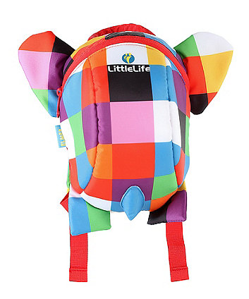 LittleLife elmer the elephant backpack with rein
