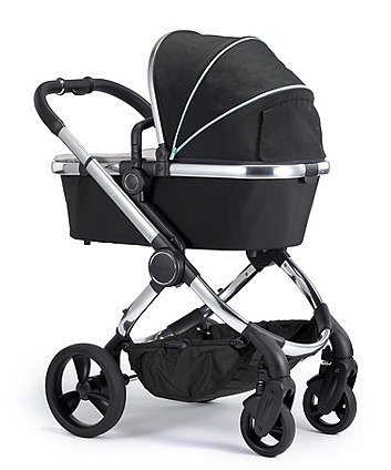 iCandy peach pushchair and carrycot combo - beluga chrome