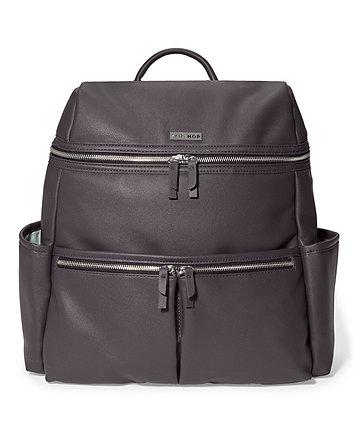 Skip Hop flatiron backpack changing bag - grey raisin