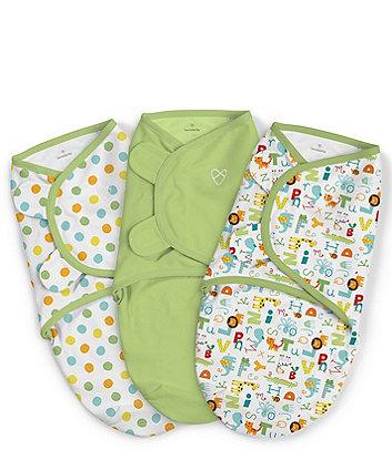 Summer Infant swaddleme® original abc alphabet small swaddle blankets - 3 pack