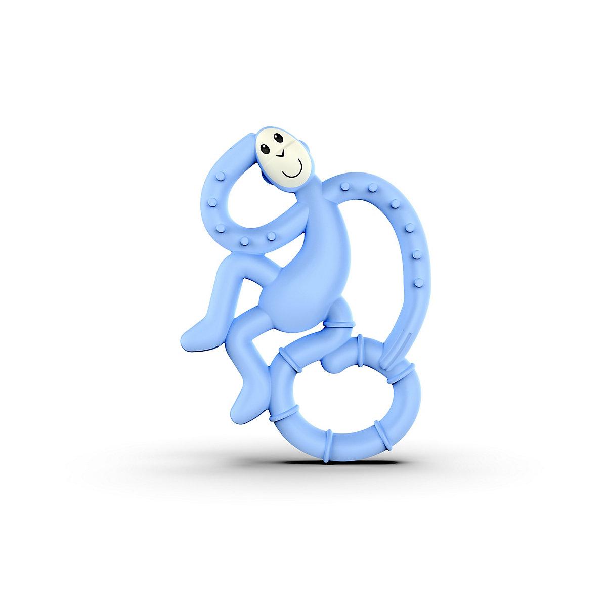 Matchstick Monkey Mini Monkey Teether   Light Blue