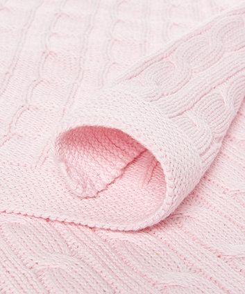 mothercare cable knit blanket - pink