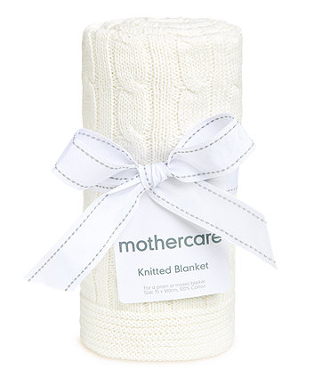 mothercare cable knit blanket - cream