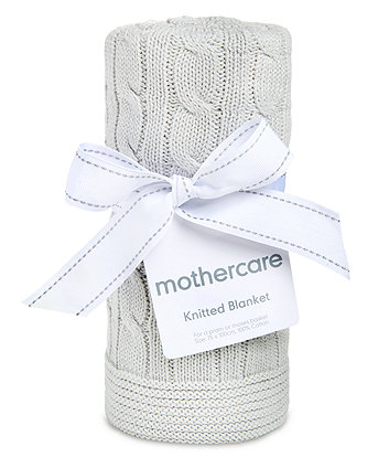 mothercare cable knit blanket - grey