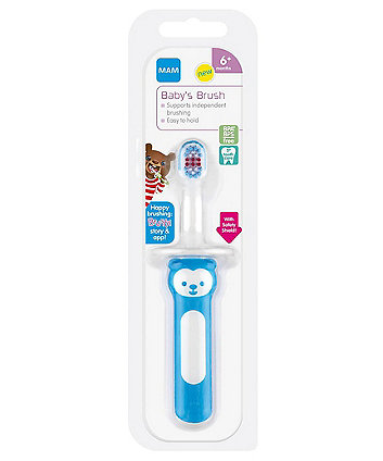 MAM baby's brush with safety shield - blue