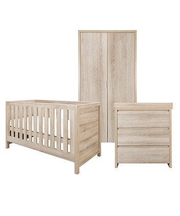 modena 3 piece room set - oak
