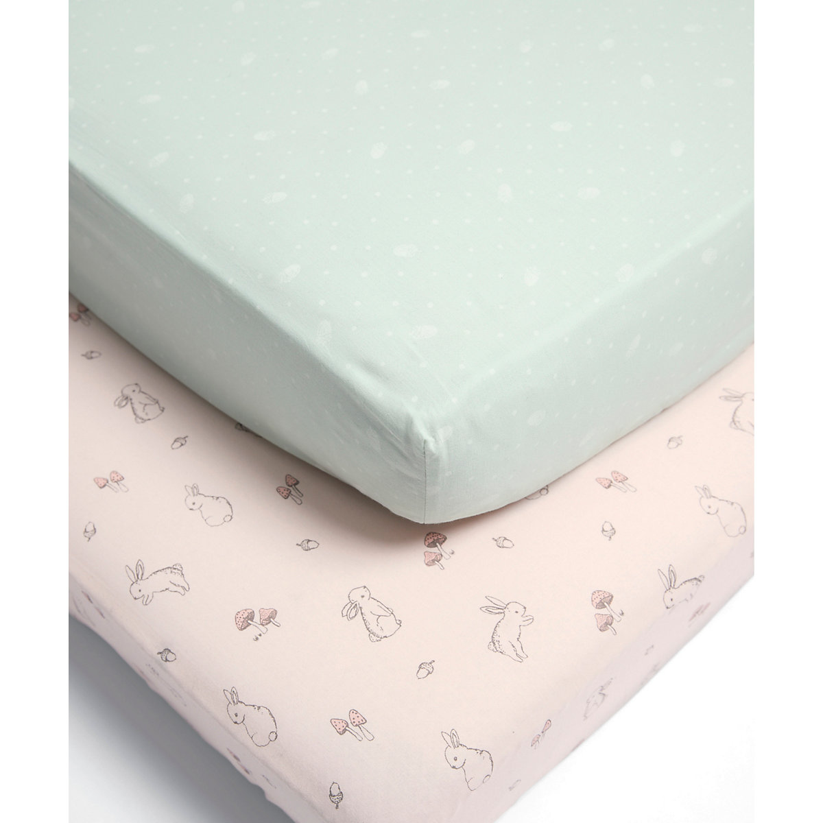 Mamas & Papas lilybelle cot/cot bed fitted sheets - 2 pack