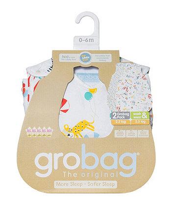 The Gro Company roll up grobag sleeping bag 2.5 tog - twin pack
